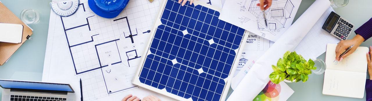 Eine Solarzelle auf einem Tisch